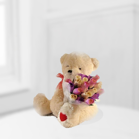Beary Rosy Bouquet