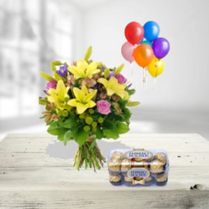Flowers , Chocolates & Balloons