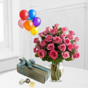 Roses , Patchi & Balloons