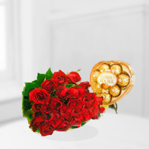 Roses N Heart Rocher