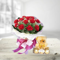 Stunning Roses With Teddy